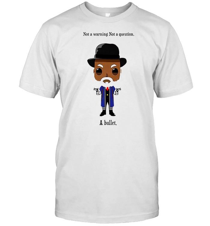 Samuel Jackson not a warning not a question just a bullet shirt Classic Men's T-shirt