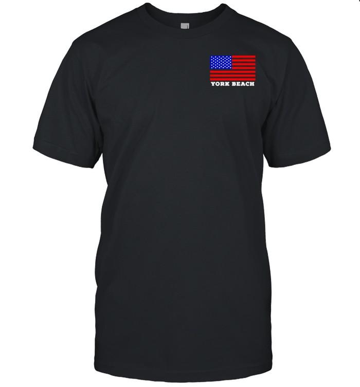 York Beach USA Flag shirt Classic Men's T-shirt