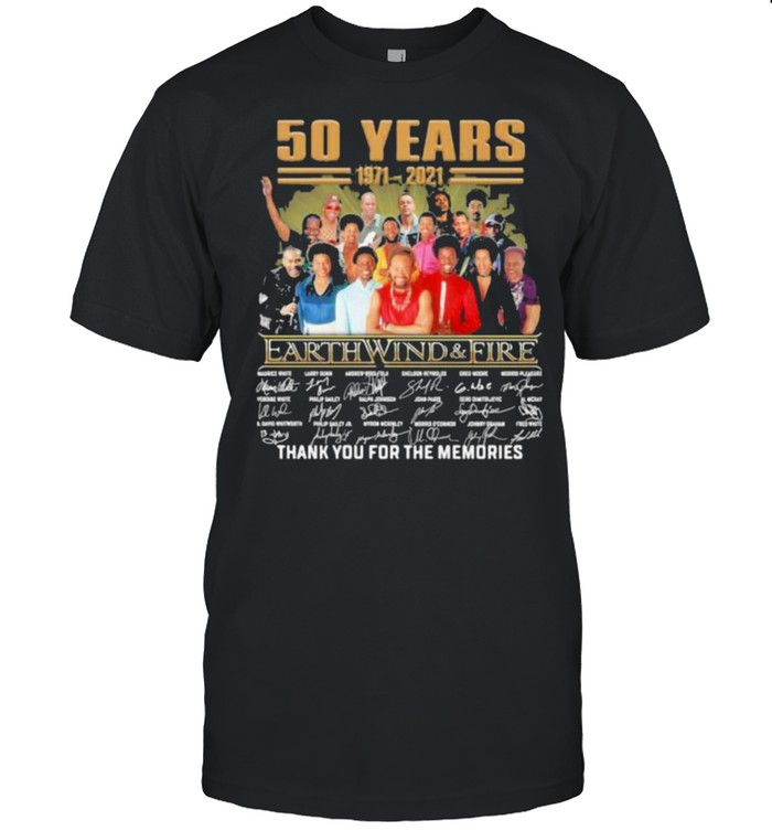 50 Years 1971 2021 Earth Wind And Fire Thank For The Memories  Classic Men's T-shirt