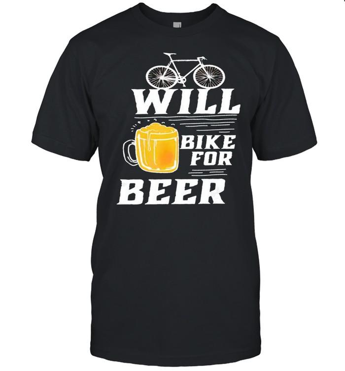 Cycling will bike for beer shirt Classic Men's T-shirt