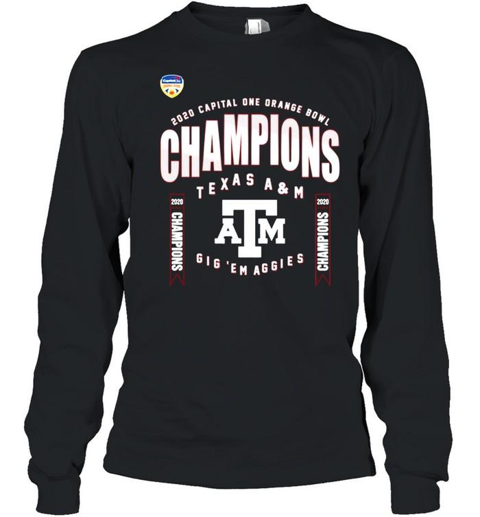 Texas A&M Aggies 2021 College Football Champions shirt Long Sleeved T-shirt