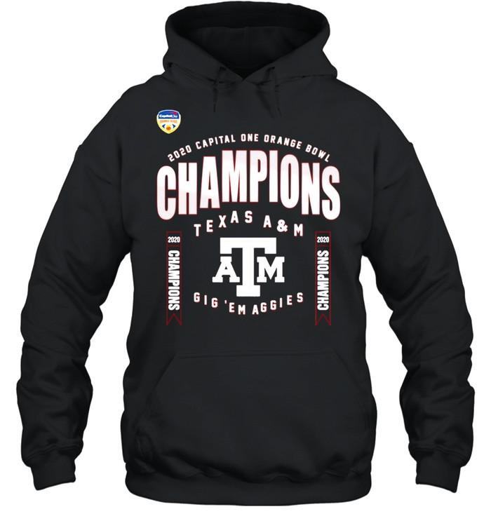 Texas A&M Aggies 2021 College Football Champions shirt Unisex Hoodie