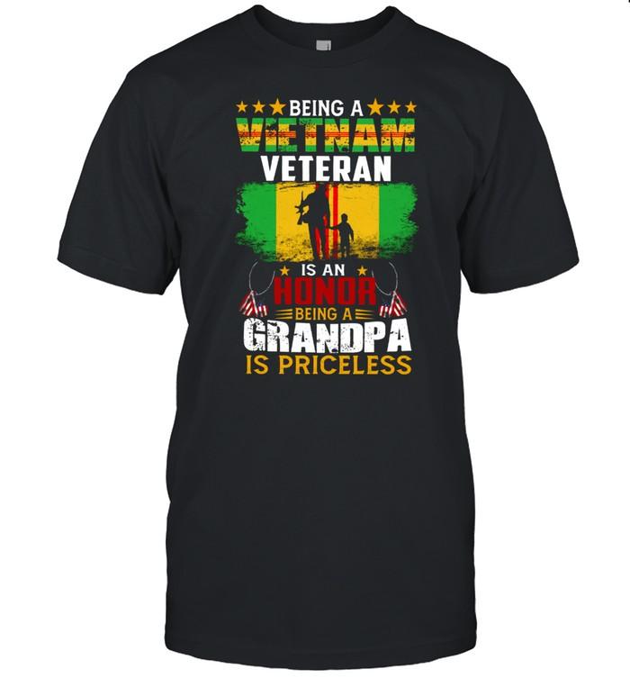 Being A Vietnam Veteran Is An Honor Being A Grandpa Is Priceless shirt Classic Men's T-shirt