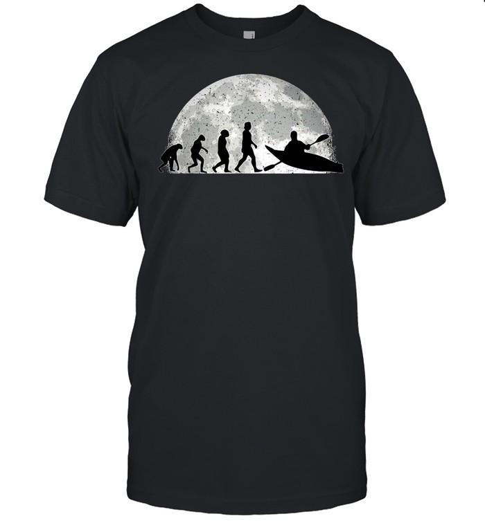 Kayak Evolution Moon Kayakers Paddling Canoe T-shirt Classic Men's T-shirt