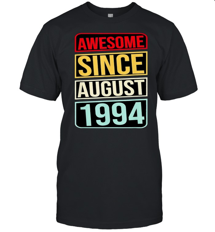 27th Birthday 27 Years Old Awesome Since August 1994 Classic shirt Classic Men's T-shirt