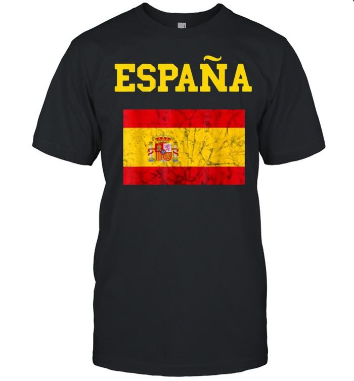 Spain Football Team Soccer Flag T- Classic Men's T-shirt