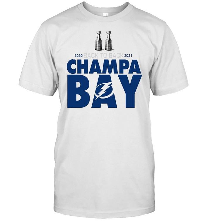 Tampa Bay Lightning 2020 back to back 2021 Champa Bay Stanley Cup 2020 2021 shirt Classic Men's T-shirt