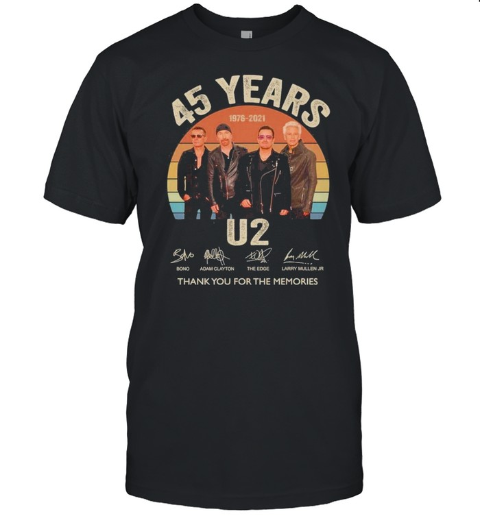 45 years u2 1976 2021 thank you for the memories vintage shirt Classic Men's T-shirt