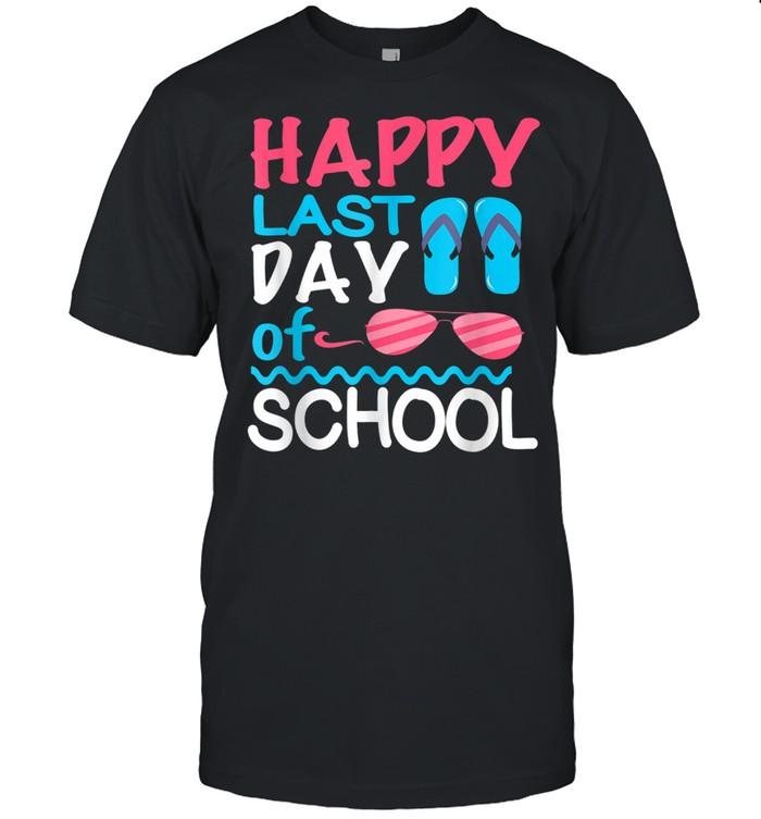 Happy Last Day Of School Teacher Boys Girls shirt Classic Men's T-shirt