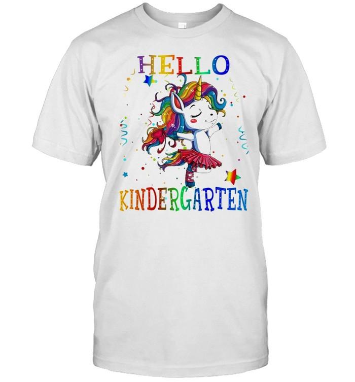 Unicorn Hello Kindergarten Back to School shirt Classic Men's T-shirt