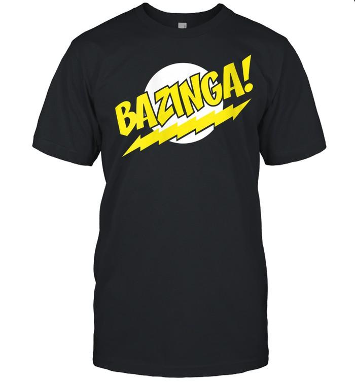 US Big Bang Theory +Logo Bazinga 01 shirt Classic Men's T-shirt