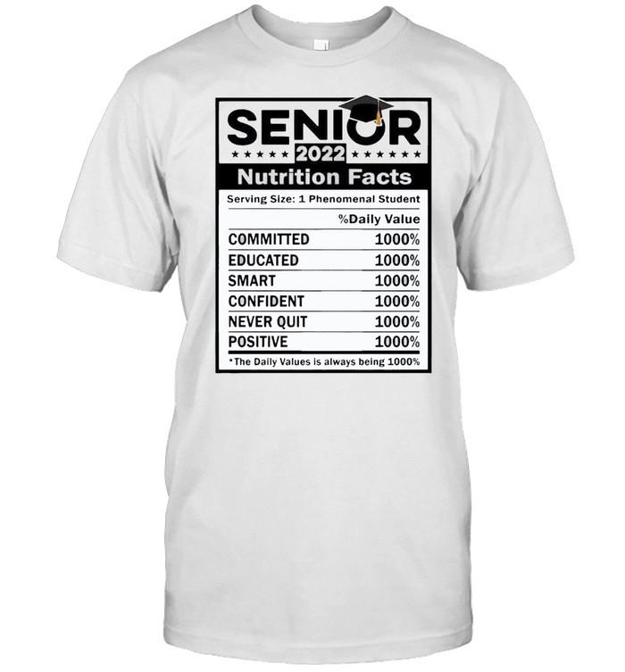 Senior 2022 nutrition facts dally value shirt Classic Men's T-shirt