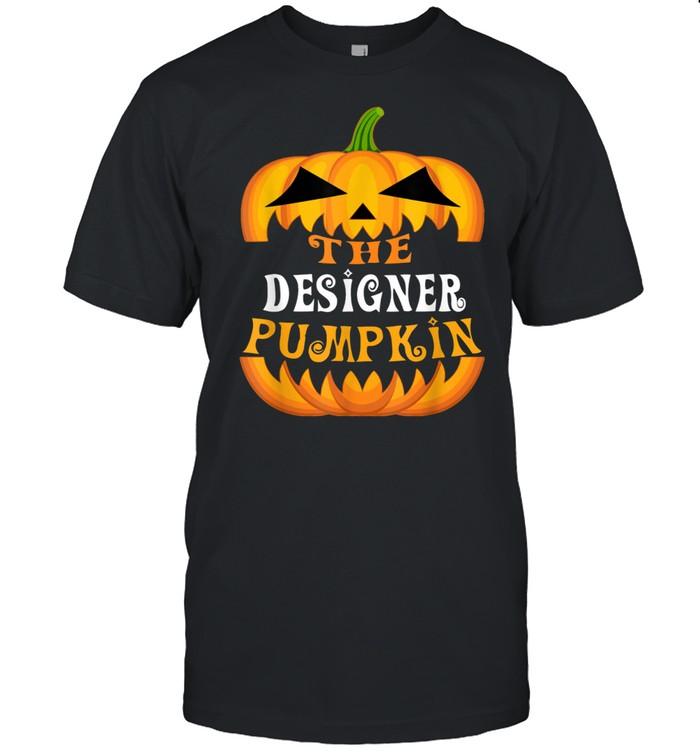 The Designer Pumpkin Matching Family Group Halloween Party shirt Classic Men's T-shirt