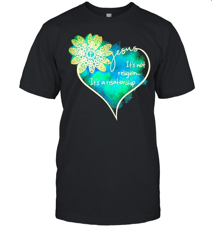 Jesus Its Not Religion Its A Relationship heart shirt Classic Men's T-shirt