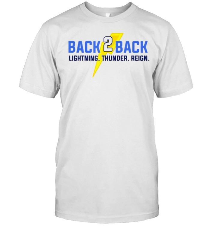 Back to Back Wins Lightning Thunder Reign Hockey T- Classic Men's T-shirt
