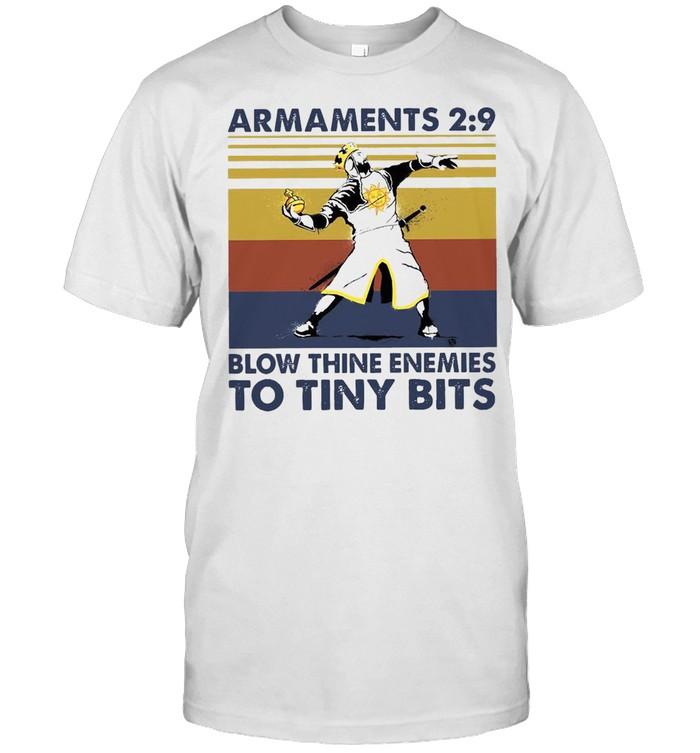 Armaments 2 9 Blow Thine Enemies To Tiny Bits Vintage Retro T-shirt Classic Men's T-shirt