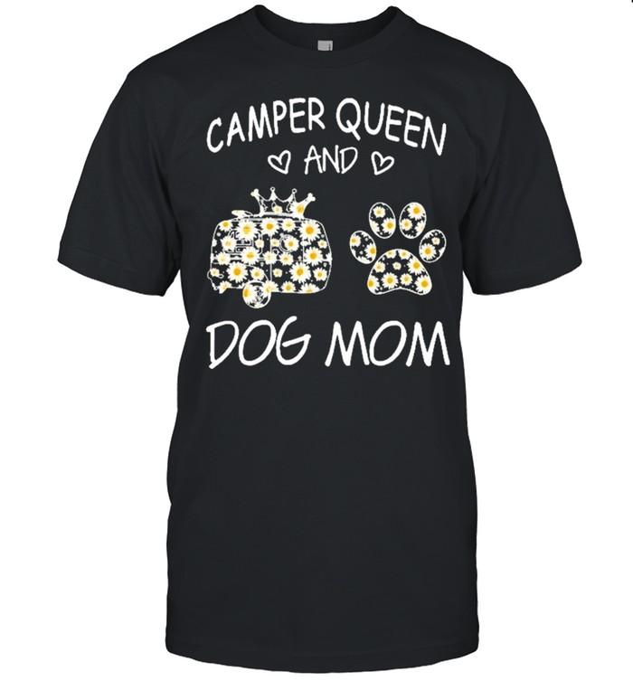 Camping queen dog mom shirt Classic Men's T-shirt