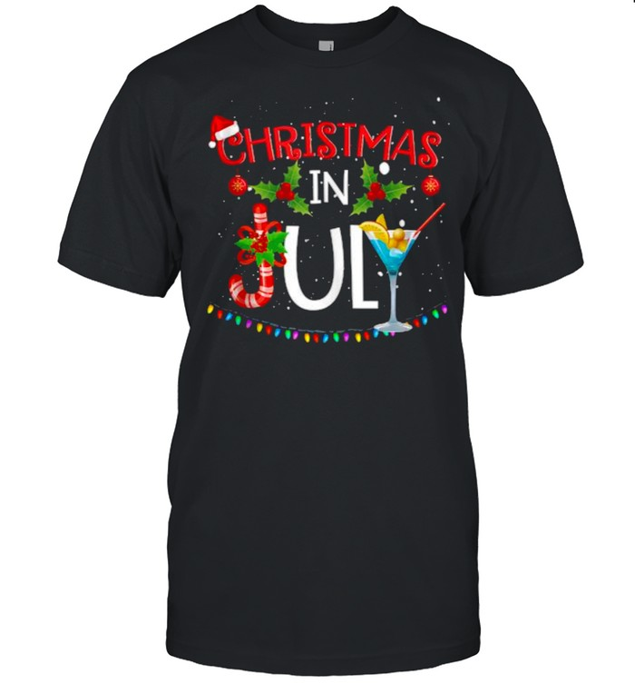 Christmas In July Summer Beach Vacation  Classic Men's T-shirt