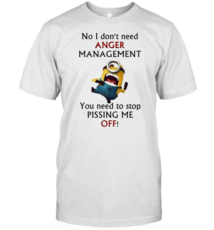Minion no I don't need anger management you need to stop pissing me off shirt Classic Men's T-shirt