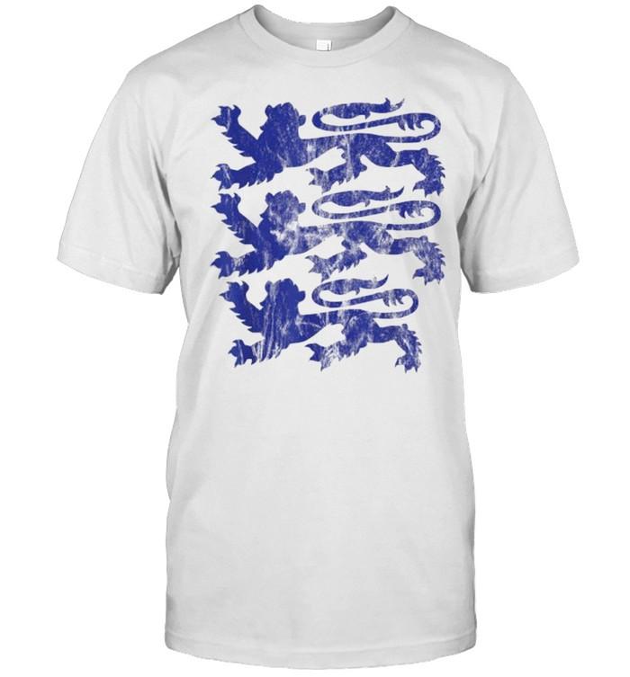 Three England Lions Tees Soccer Jersey 2021 English Football  Classic Men's T-shirt