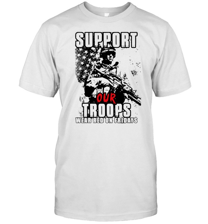 Veteran support our troops wear red on fridays shirt Classic Men's T-shirt