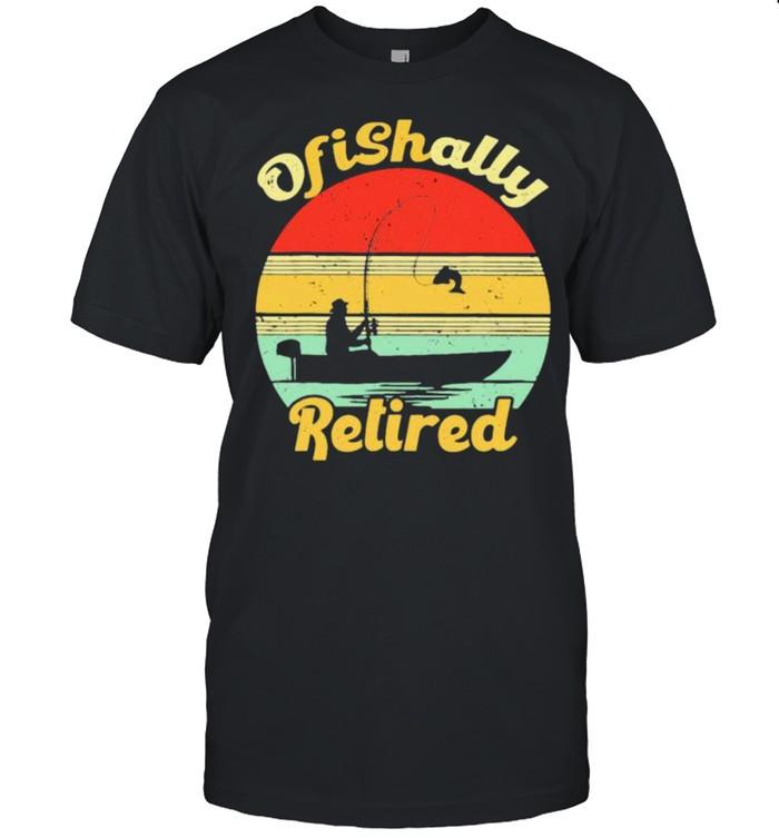 Ofishally retired fishing vintage shirt Classic Men's T-shirt