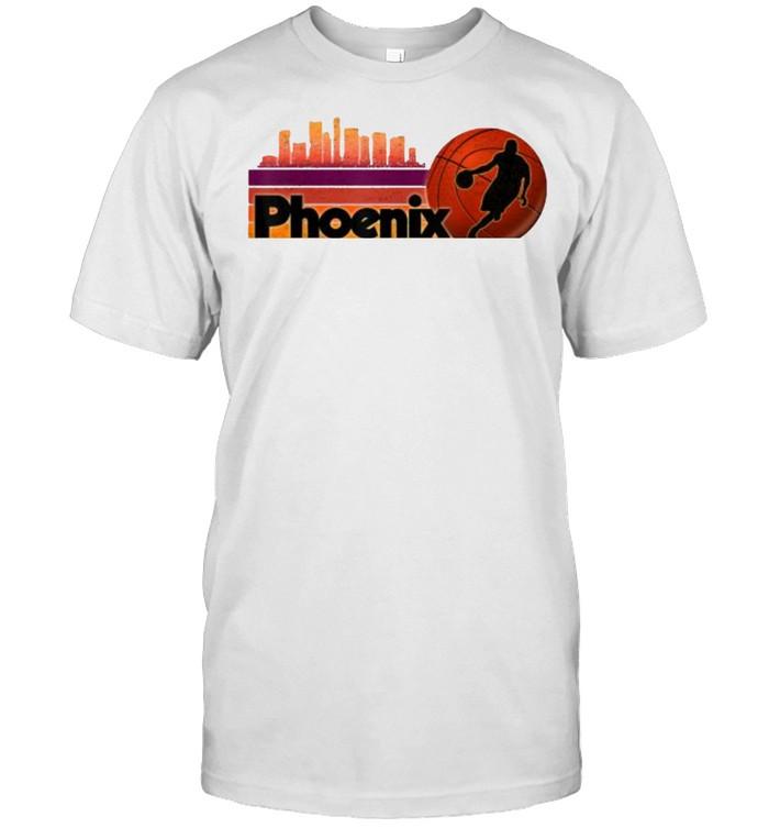 Phoenix AZ Cityscape Hot Retro Sun  Classic Men's T-shirt