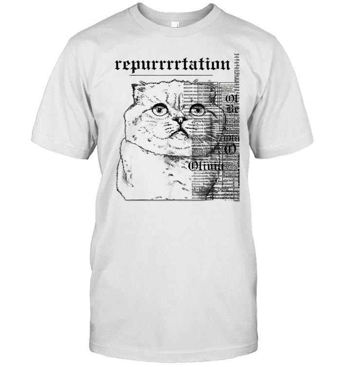 Taylor Swift White Cat Tee Swift Rep Tour shirt Classic Men's T-shirt