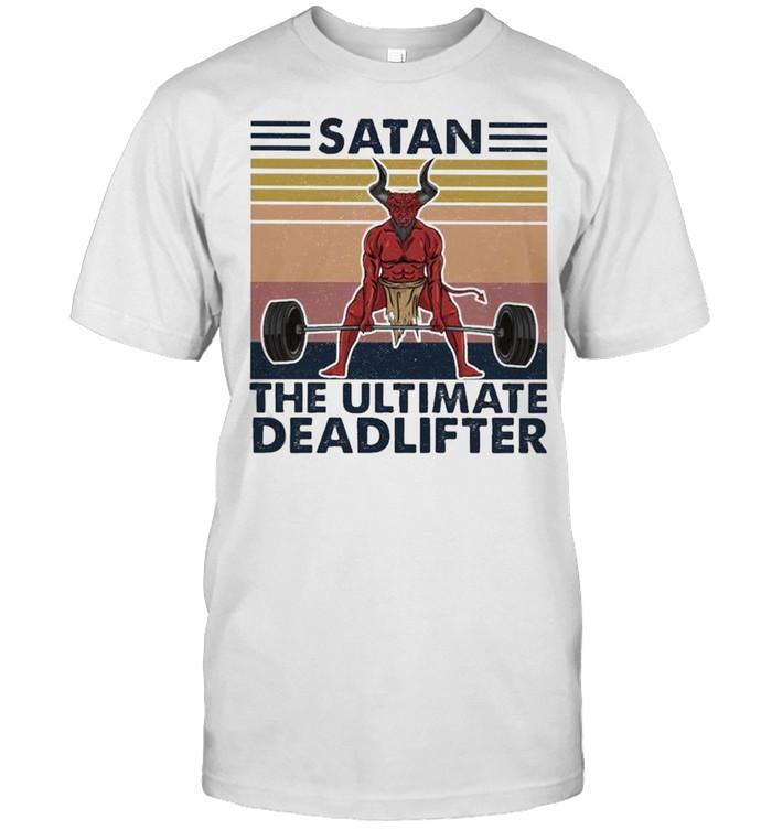 Weightlifting Satan the Ultimate Deadlifter vintage shirt Classic Men's T-shirt