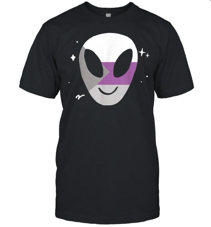Demisexual Alien LGBTQ Pride Flag Vaporwave Space shirt Classic Men's T-shirt
