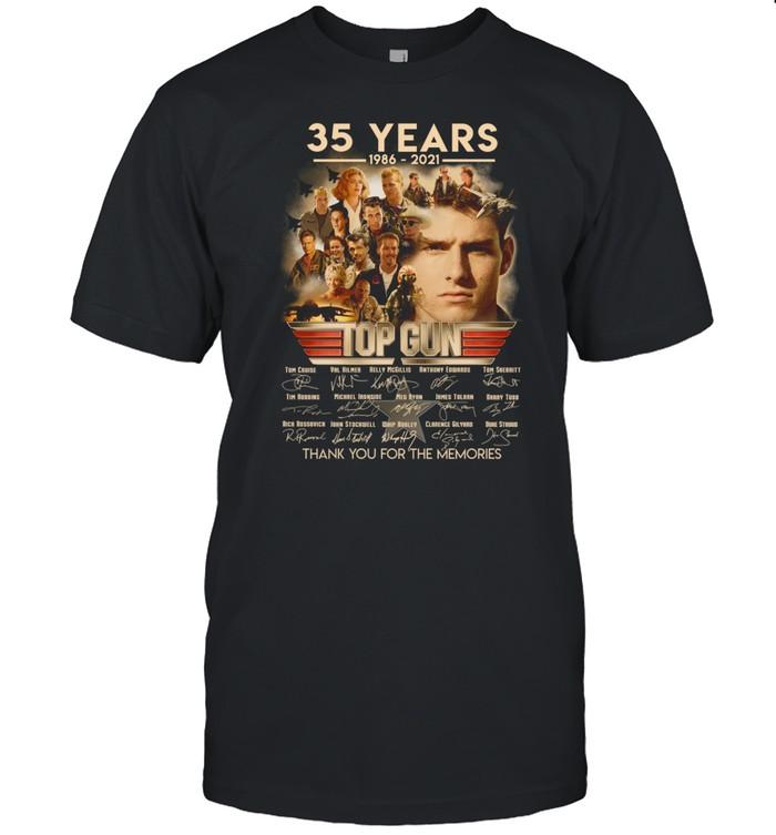 35 years 1986 2021 top gun thank you for the memories shirt Classic Men's T-shirt