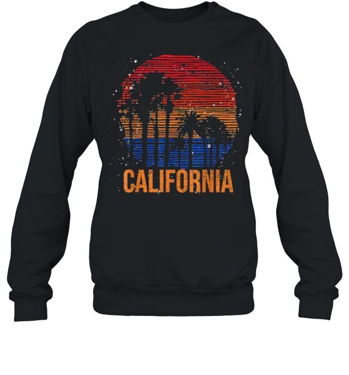 California Palm Trees Ocean Summer Vacation Sea Vintage T- Unisex Sweatshirt