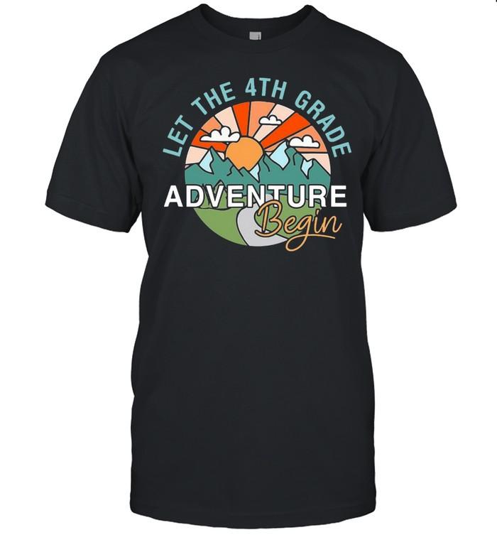 Let The 4Th Grade Adventure Begin Teacher Back To School T-shirt Classic Men's T-shirt