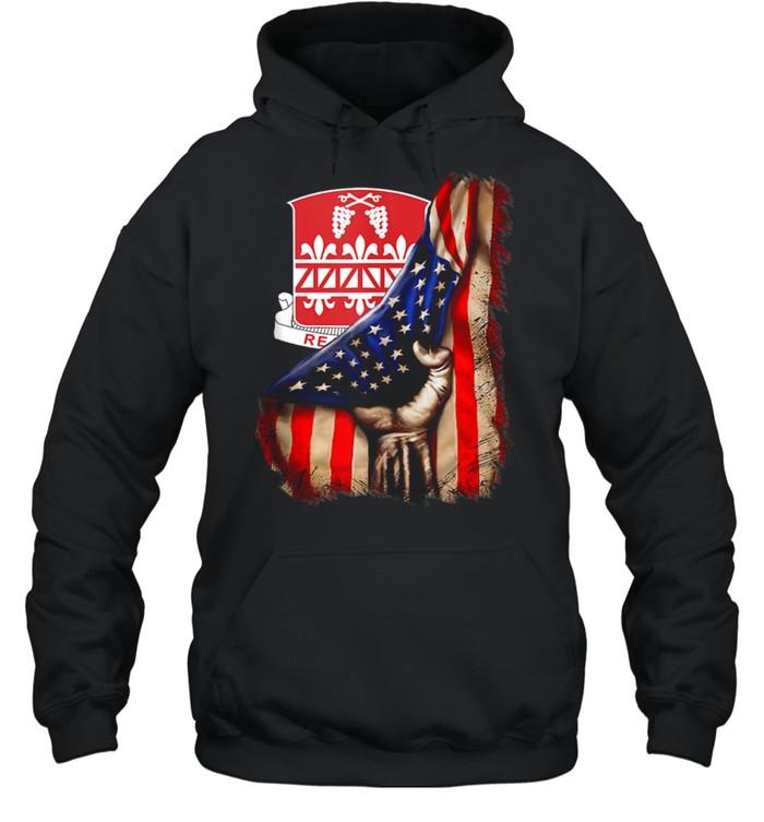 926th Engineer Battalion American Flag shirt Unisex Hoodie