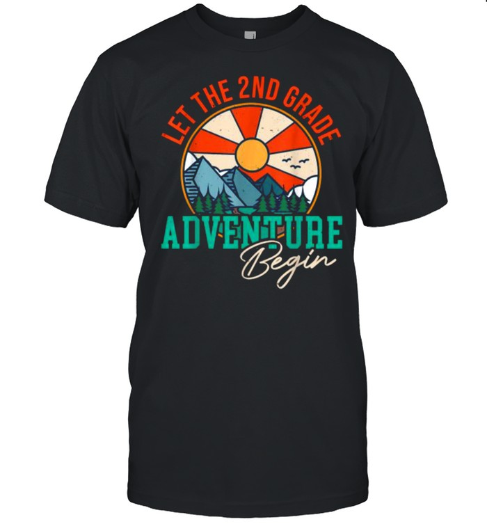 Let's The 2nd Grade Adventure Begin Funny Back To School T- Classic Men's T-shirt