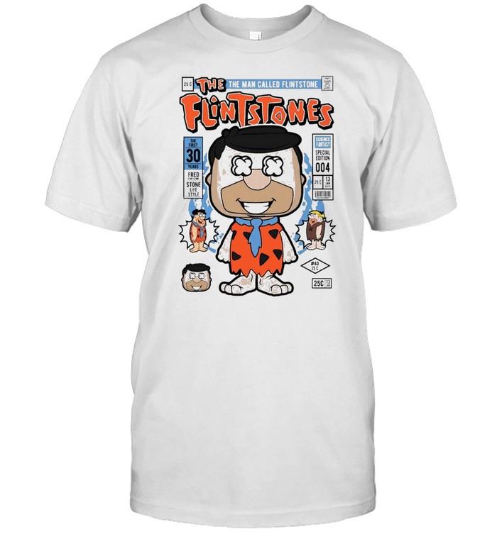 Fred flint famous comic book poster shirt Classic Men's T-shirt