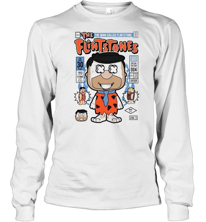 Fred flint famous comic book poster shirt Long Sleeved T-shirt