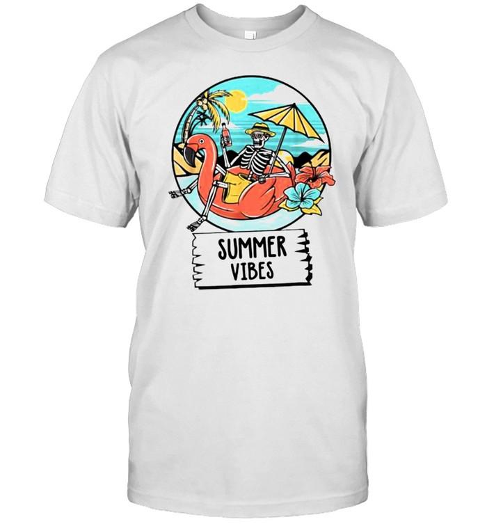 Summer Vibes Skull Skeleton Beach T- Classic Men's T-shirt