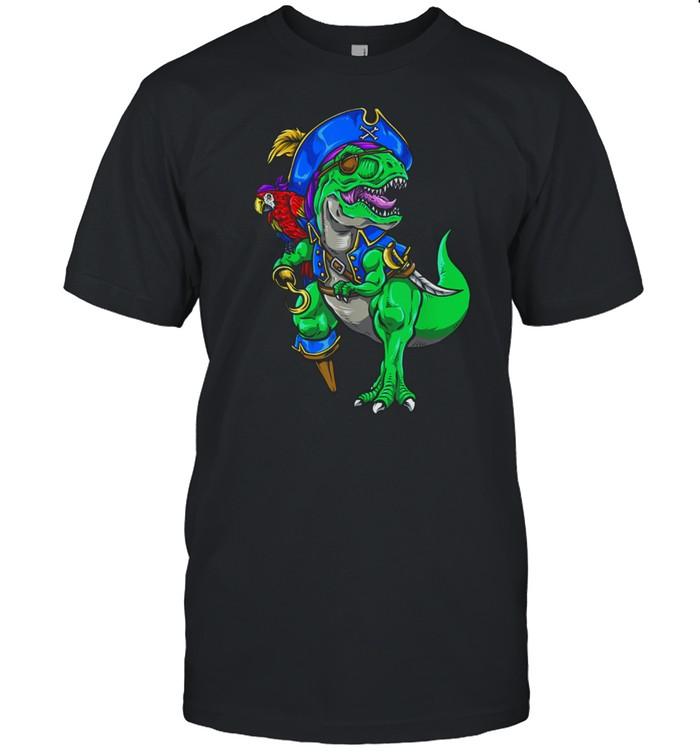Dinosaur T Rex Pirate Jolly Roger Halloween Costume  Classic Men's T-shirt