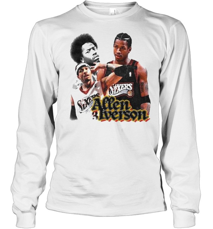 Allen Iverson Sixers  Long Sleeved T-shirt