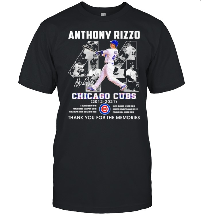Anthony rizzo chicago cubs 2012 2021 thank you for the memories signature shirt Classic Men's T-shirt