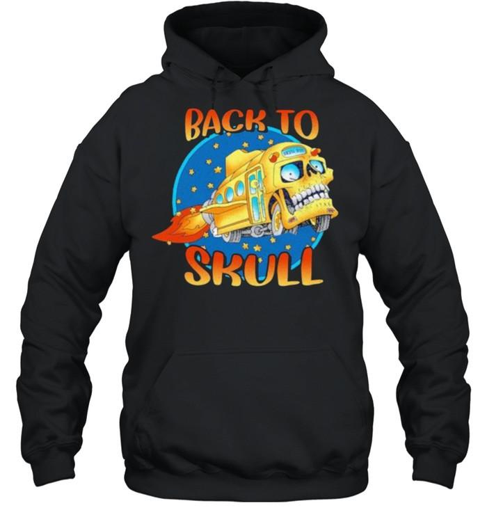 Back To School Skull Bus  Unisex Hoodie