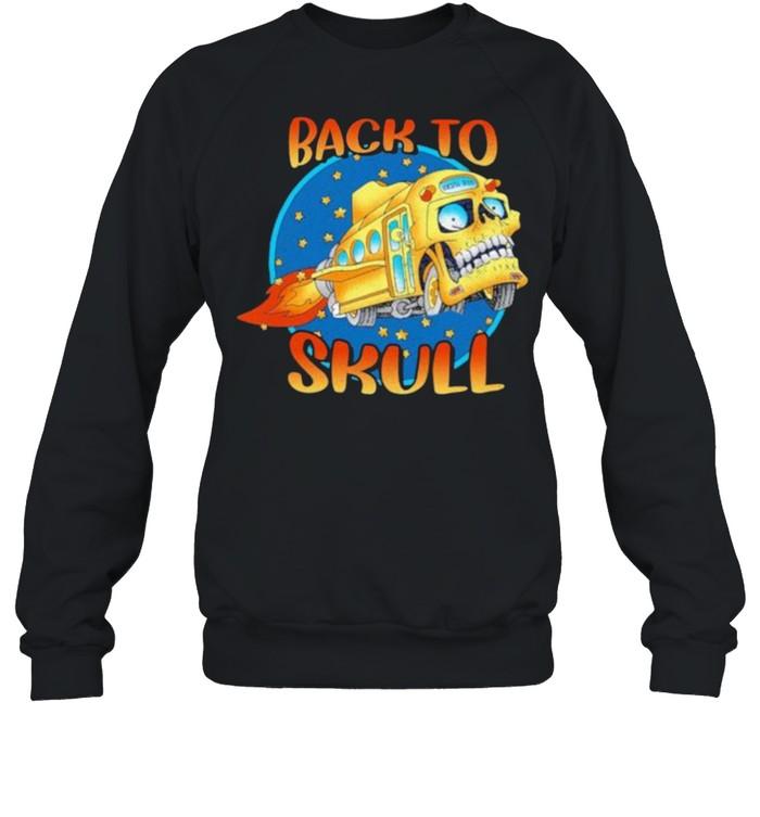 Back To School Skull Bus  Unisex Sweatshirt