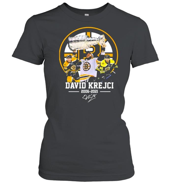 David krejci 2006 2021 signature shirt Classic Women's T-shirt