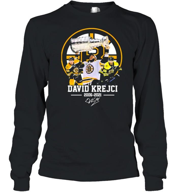 David krejci 2006 2021 signature shirt Long Sleeved T-shirt
