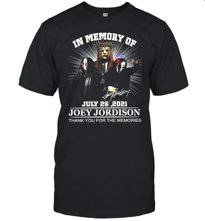In Memory Of July 26 2021 Joey Jordison Thank You For The Memories T-shirt Classic Men's T-shirt