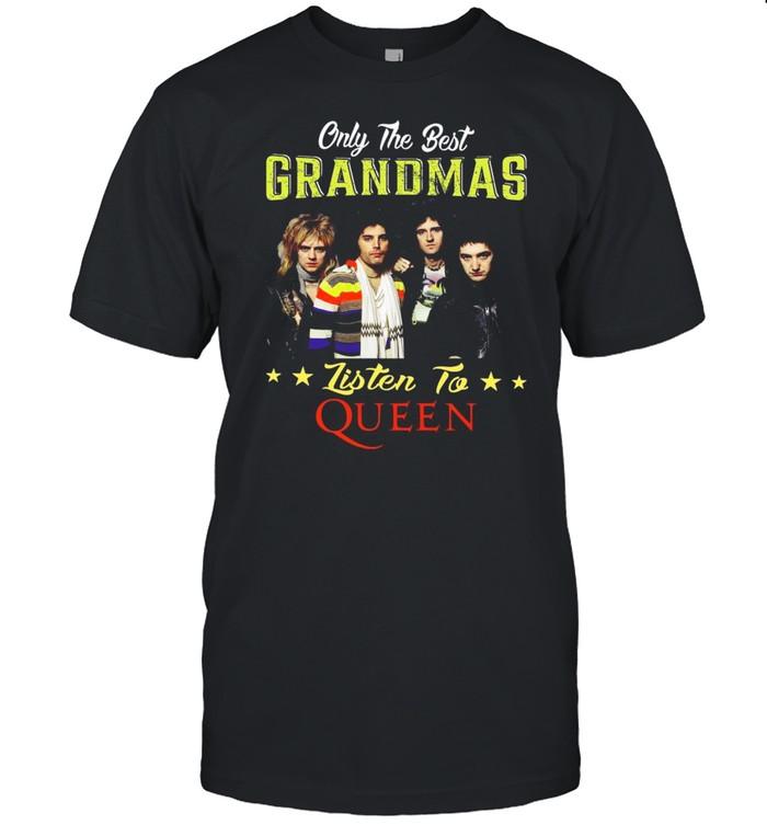 Only The Best Grandmas Listen To Queen shirt Classic Men's T-shirt