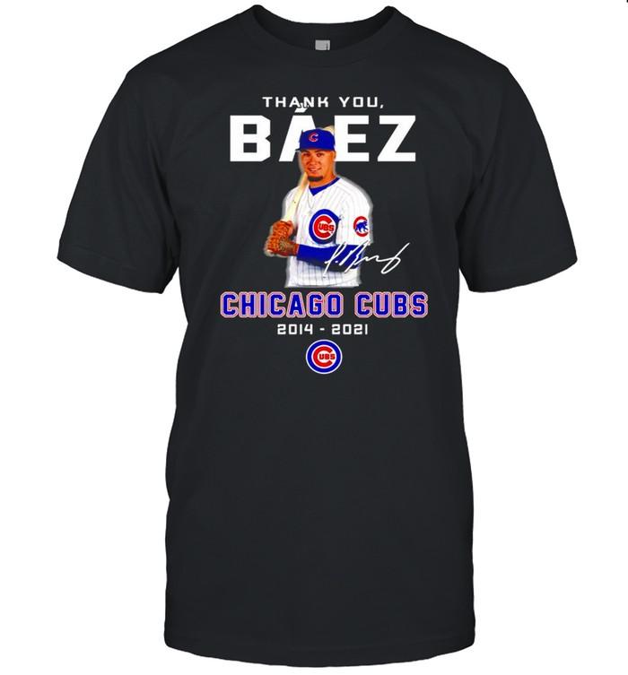 Thank you Baez Chicago Cubs 2014 2021 signature shirt Classic Men's T-shirt