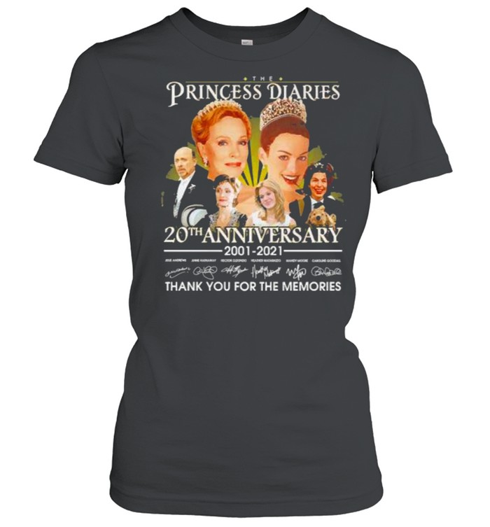 The Princess diaries 20th anniversary 2001 2021 thank you for the memories signatures shirt Classic Women's T-shirt