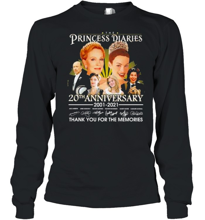 The Princess diaries 20th anniversary 2001 2021 thank you for the memories signatures shirt Long Sleeved T-shirt